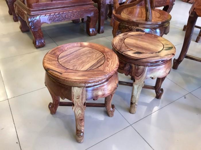 Bộ bàn ghế móc thúng gỗ cẩm lai hàng tuyển chọn VIP7