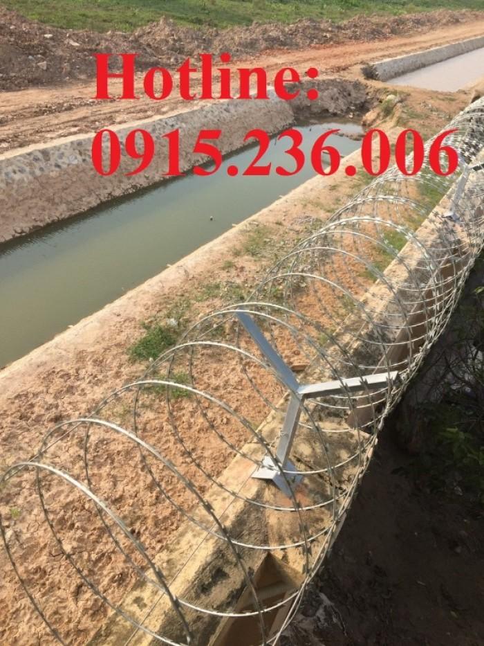 Dây thép gai hình dao vòng 60 giá rẻ tại Hà Nội