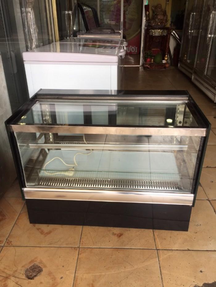 Tủ trưng bày bánh kem để bàn kính vuông0