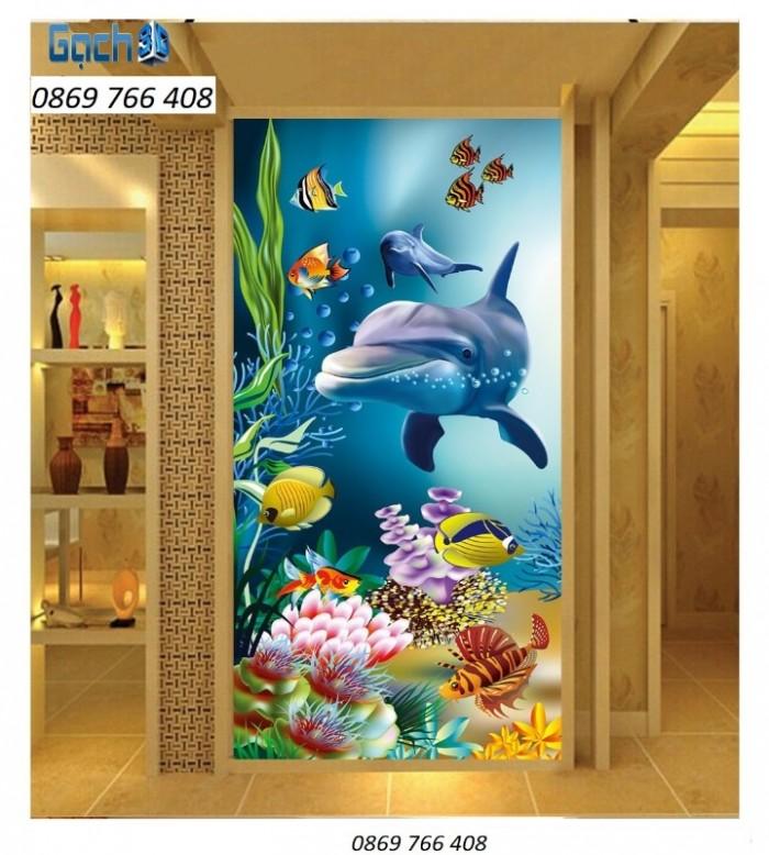 Gạch tranh 3D cá heo2