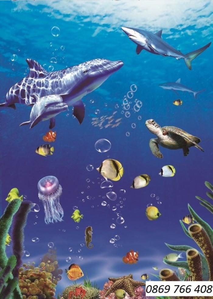 Gạch tranh 3D cá heo3