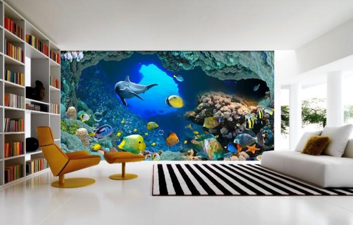 Gạch tranh 3D cá heo1