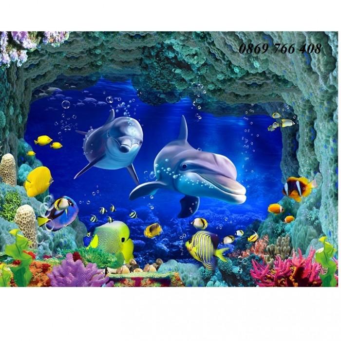 Gạch tranh 3D cá heo8