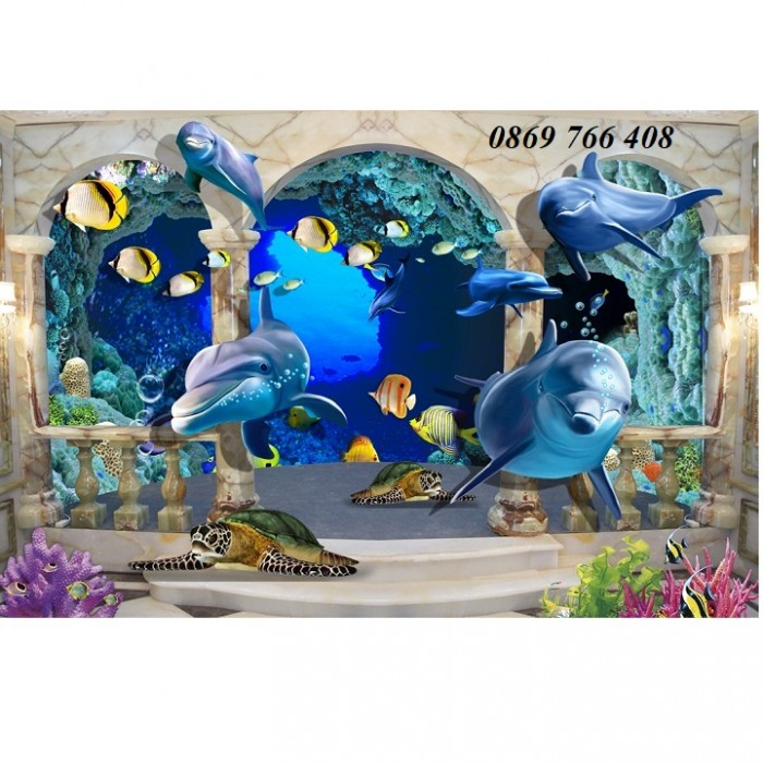 Gạch tranh 3D cá heo7