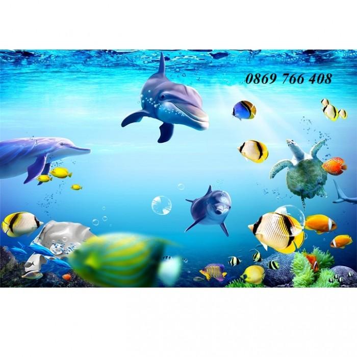 Gạch tranh 3D cá heo11