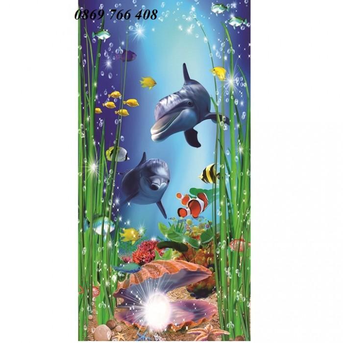 Gạch tranh 3D cá heo9