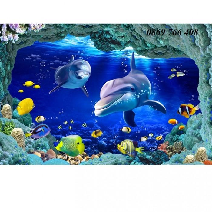 Gạch tranh 3D cá heo10
