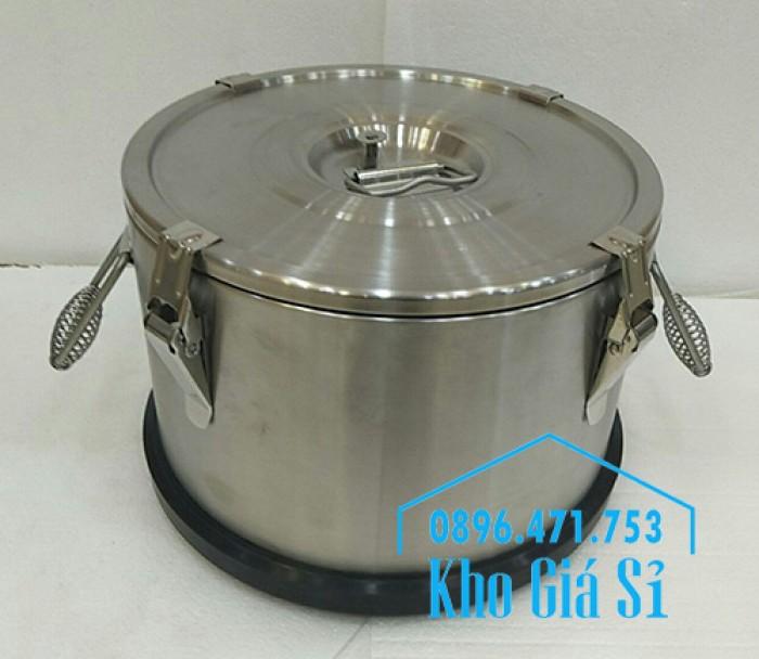 Nồi inox giữ nhiệt, cách nhiệt đựng thực phẩm, thức ăn, nước lèo, nước phở9