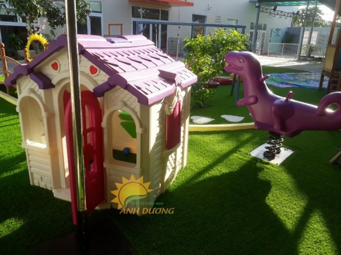Cung cấp nhà cổ tích dễ thương cho trường mầm non, công viên, sân chơi trẻ em0