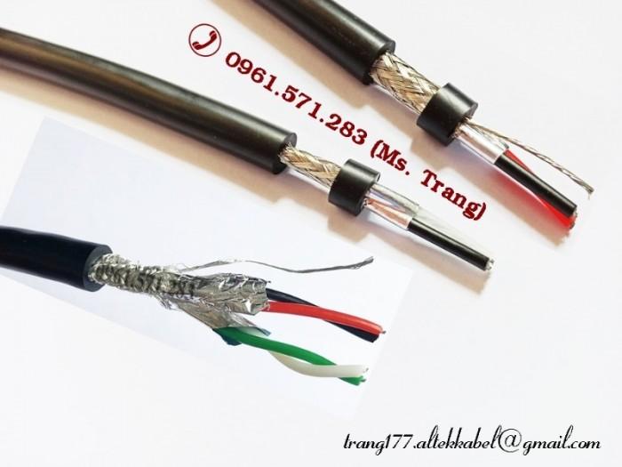 Cáp RS485 2pair18awg, 2pair22awg, 2pair2awg lõi vặn xoắn chống nhiễu 2 lớp