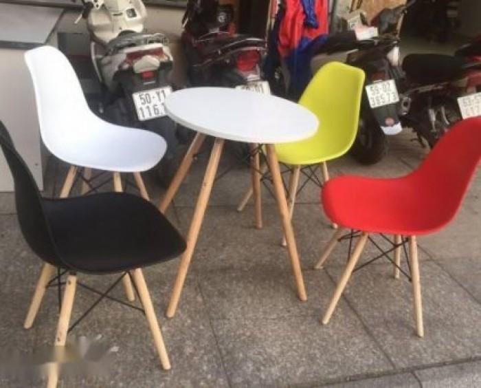 Bàn ghế cafe sân vườn nhựa chân gỗ rẻ nhất1