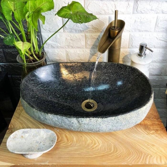 Chậu rửa mặt lavabo đá tự nhiên, đá cẩm thạch, đá cuội ngoài trời cao cấp rẻ11