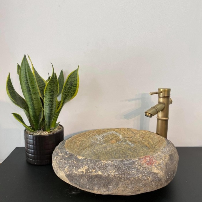 Chậu rửa mặt lavabo đá tự nhiên, đá cẩm thạch, đá cuội ngoài trời cao cấp rẻ10
