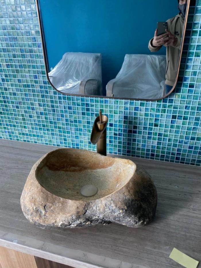 Chậu rửa mặt lavabo đá tự nhiên, đá cẩm thạch, đá cuội ngoài trời cao cấp rẻ9