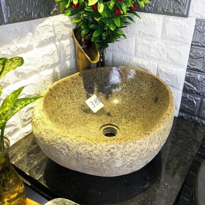 Chậu rửa mặt lavabo đá tự nhiên, đá cẩm thạch, đá cuội ngoài trời cao cấp rẻ8