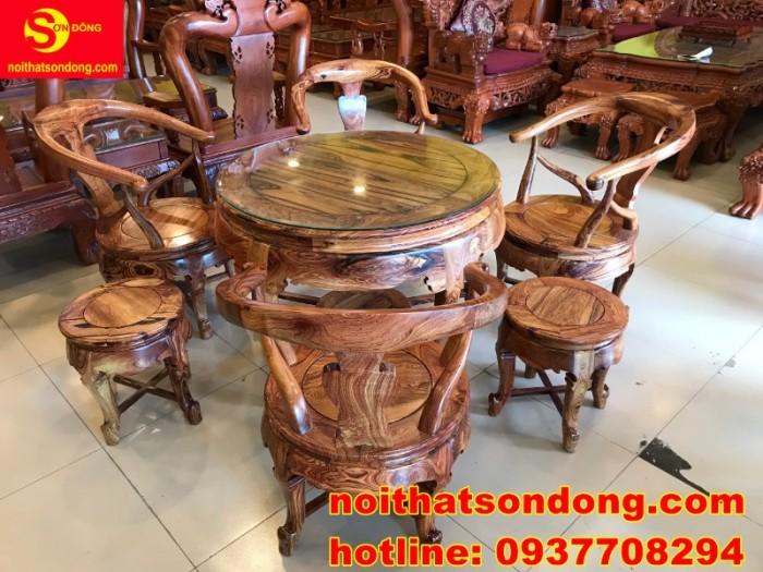 Bộ bàn ghế móc thúng cẩm lai siêu sang xịn giá cực iu1