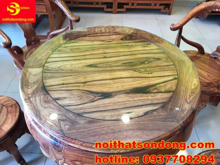 Bộ bàn ghế móc thúng cẩm lai siêu sang xịn giá cực iu2