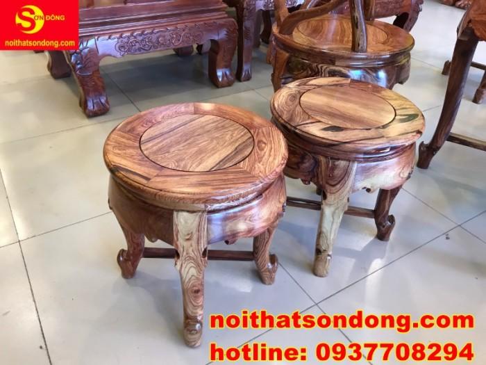 Bộ bàn ghế móc thúng cẩm lai siêu sang xịn giá cực iu4