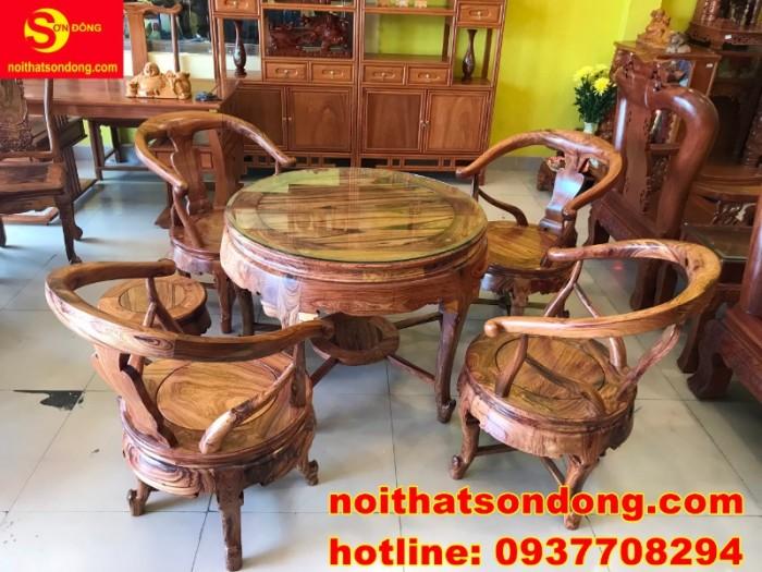 Bộ bàn ghế móc thúng cẩm lai siêu sang xịn giá cực iu6