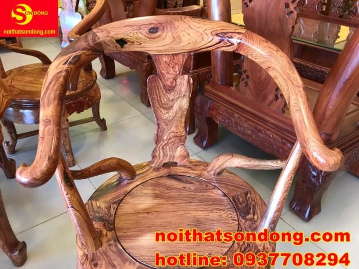 Bộ bàn ghế móc thúng cẩm lai siêu sang xịn giá cực iu10