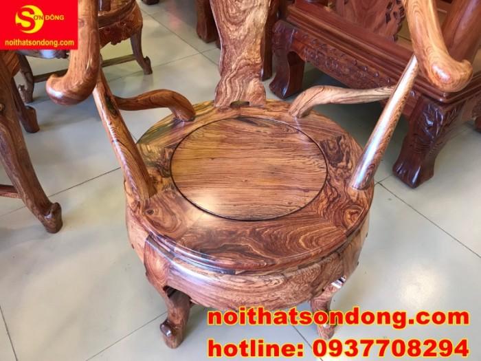 Bộ bàn ghế móc thúng cẩm lai siêu sang xịn giá cực iu7