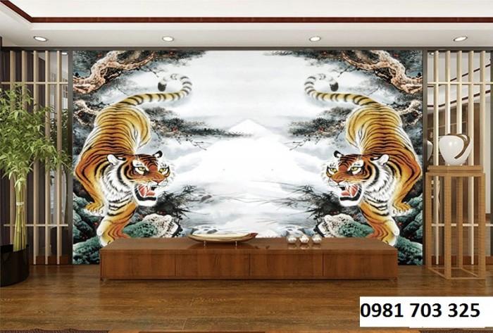 Tranh gạch phong thủy-tranh hổ3
