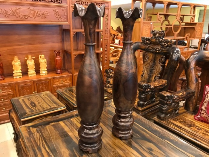 Lục bình nguyên khối cao 1m gỗ chiu liu giá rẻ1