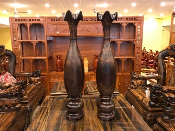 Lục bình nguyên khối cao 1m gỗ chiu liu giá rẻ0