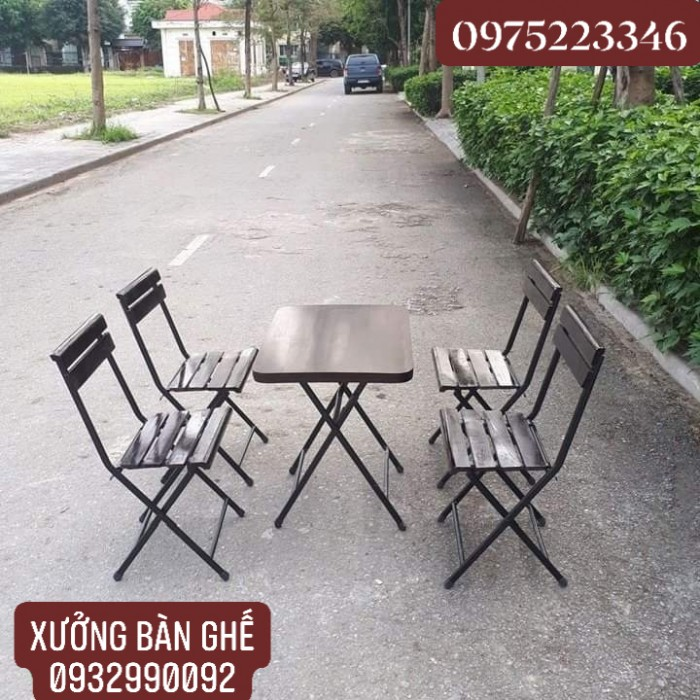 Bàn ghế xếp giá tại xưỡng sản xuất3