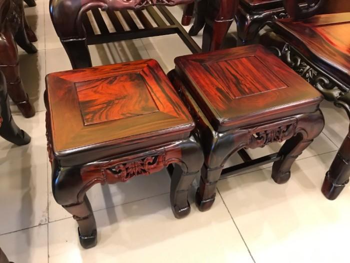 Bộ bàn ghế gỗ trắc đỏ Lào VIP chạm nho trúc4