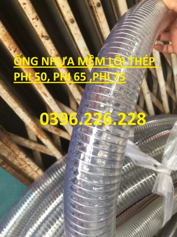 Chuyên cung cấp sản phẩm ống nhựa mềm lõi thép phi 150 chuyên hút xả xăng dầu7