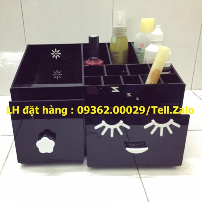 Kệ trưng bày sản phẩm mỹ phẩm, kệ đựng nail, sơn móng tay mica1
