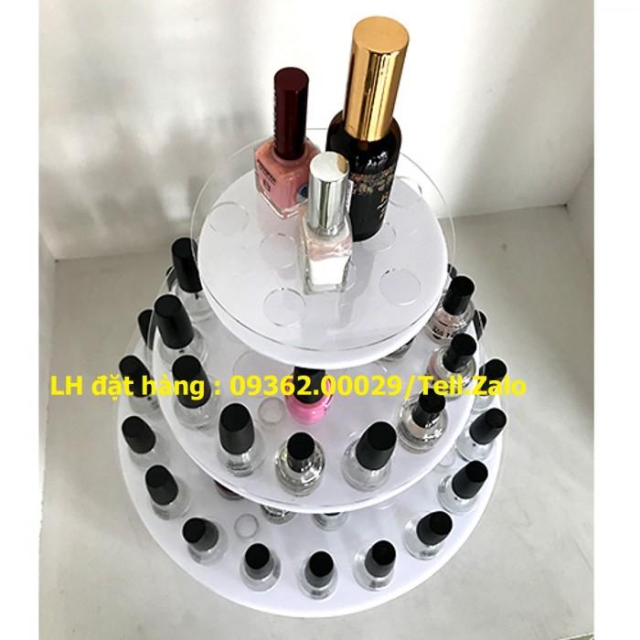 Kệ trưng bày sản phẩm mỹ phẩm, kệ đựng nail, sơn móng tay mica4