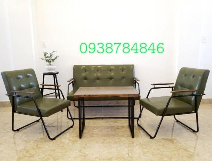Bộ sofa cafe sắt bọc simili giá rẻ
