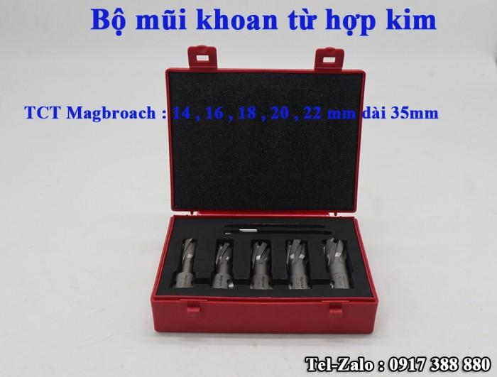 Bộ combo mũi khoan từ hợp kim TCT magbroach Anh Quốc