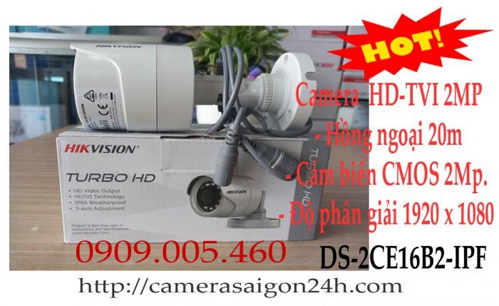 Camera quan sát thân hikvision 2.0megapixel0