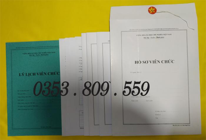 Viên chức hồ sơ theo thông tư 07/20192