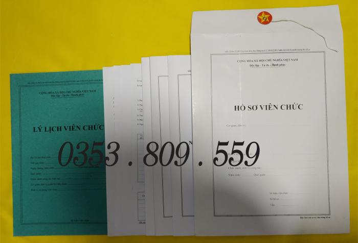 Bán hồ sơ viên chức tt07/2019 bìa trắng0