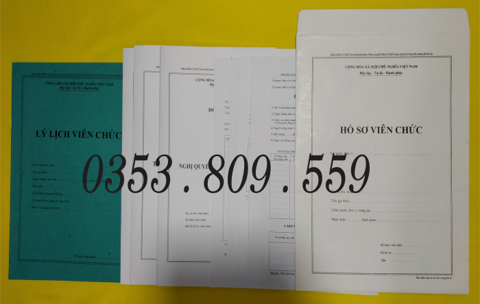 Bán hồ sơ viên chức thông tư 07/2019, Bìa trắng1