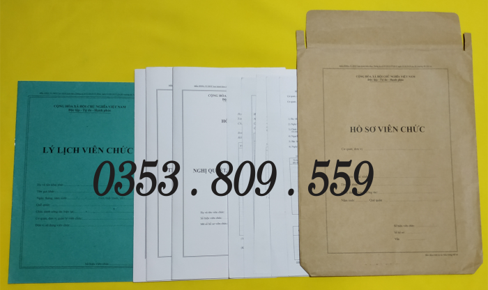 Bán hồ sơ viên chức thông tư 07/2019, Bìa trắng2