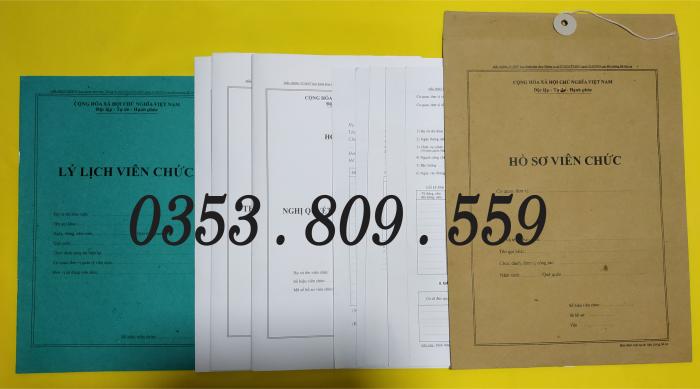Bán hồ sơ viên chức tt07/2019 bìa trắng3