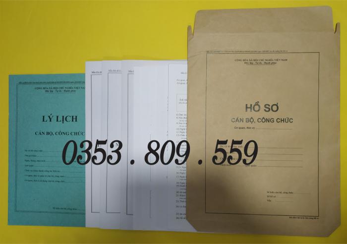 Bán hồ sơ viên chức thông tư 07/2019, Bìa trắng4