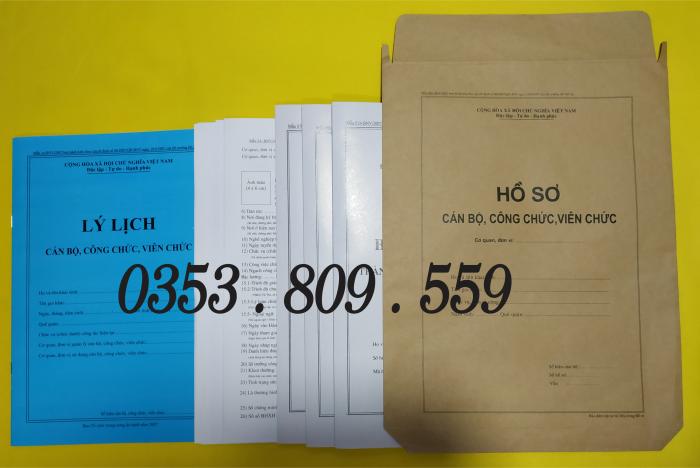Bán hồ sơ viên chức thông tư 07/2019, Bìa trắng5