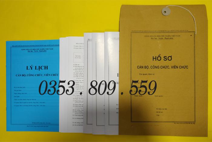 Bán hồ sơ viên chức thông tư 07/2019, Bìa trắng6