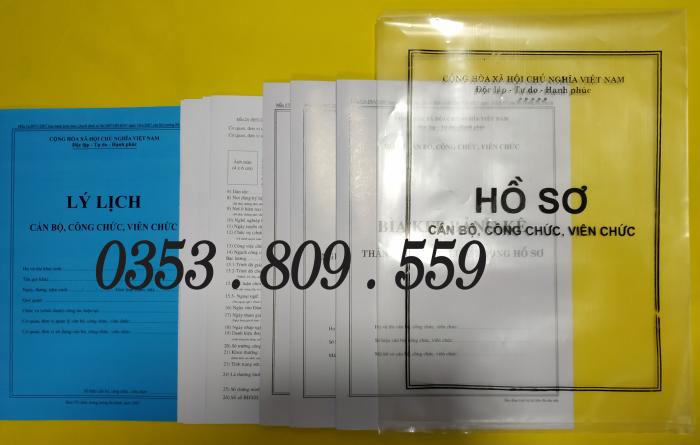 Bán hồ sơ viên chức thông tư 07/2019, Bìa trắng7