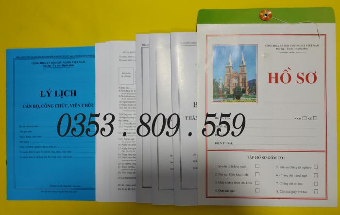 Bán hồ sơ viên chức thông tư 07/2019, Bìa trắng8