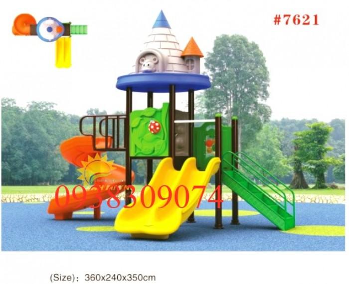 Chuyên cầu trượt liên hoàn ngoài trời cho trường mầm non, công viên, sân chơi0