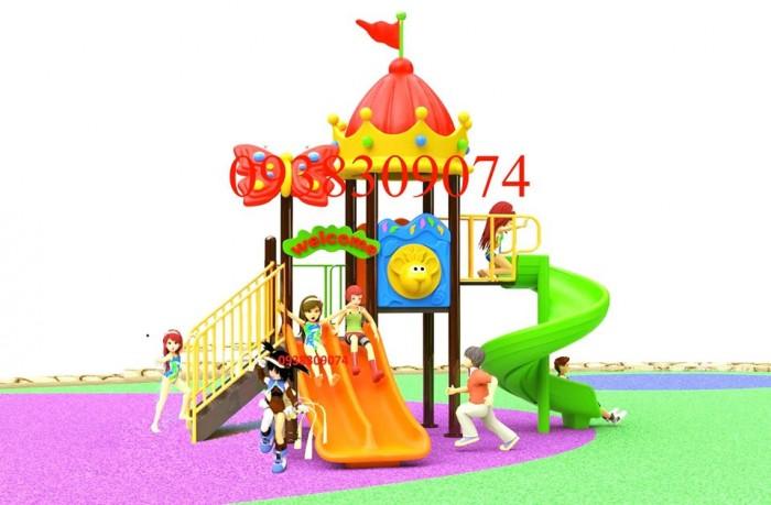 Chuyên cầu trượt liên hoàn ngoài trời cho trường mầm non, công viên, sân chơi1