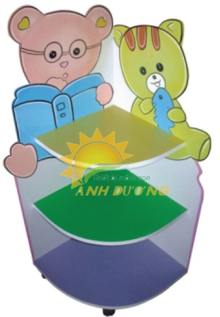 Chuyên cung cấp kệ gỗ trẻ em cho trường lớp mầm non, gia đình giá TỐT17