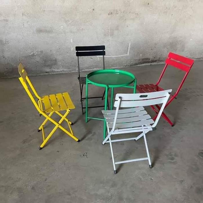 Bàn ghế  xếp mini.. nhiều màu2